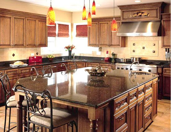 Kitchen Island with Seating Designs | Kitchen island with ...