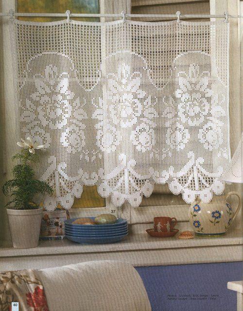 Cortinas a crochet con patrones - Imagui | Cortinas | Pinterest ...
