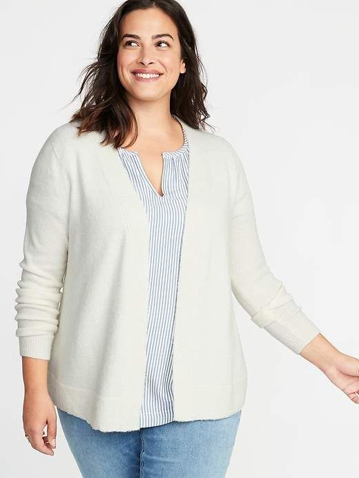 b050ae10e8926 Old Navy Plush-Knit Open-Front Plus-Size Sweater