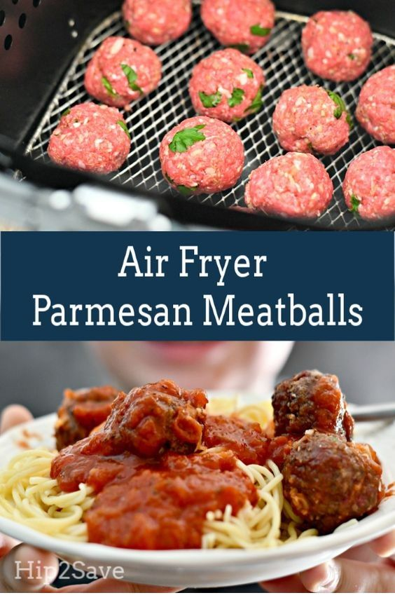 Air Fryer Parmesan Meatballs | Easy Air Fryer Recipes #airfryerrecipes