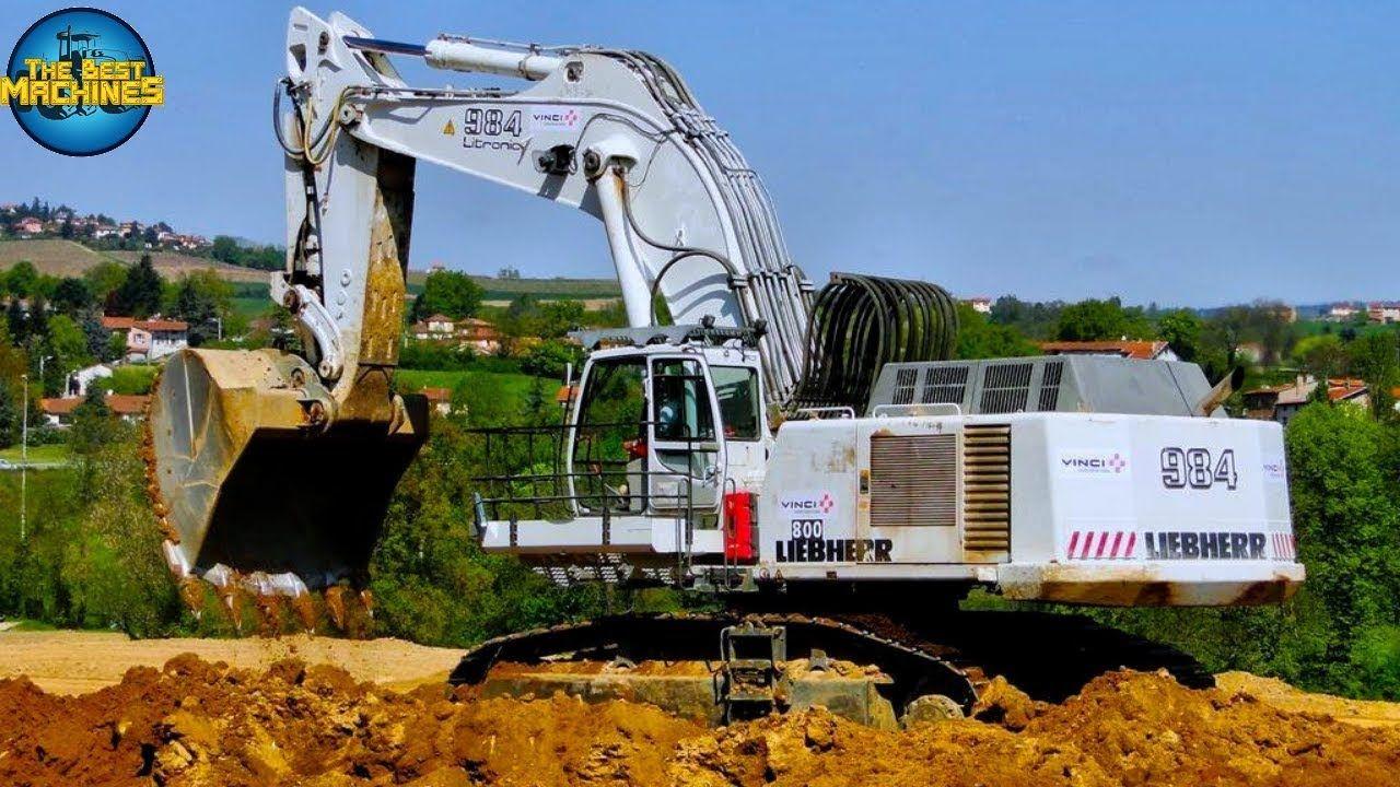 Liebherr 984 Biggest Excavators At Work Trucks Loading Powerful Liebherr 984 Excavator 35 Minutes Loading Liebherr 984 Exc Heavy Equipment World Fair Grounds