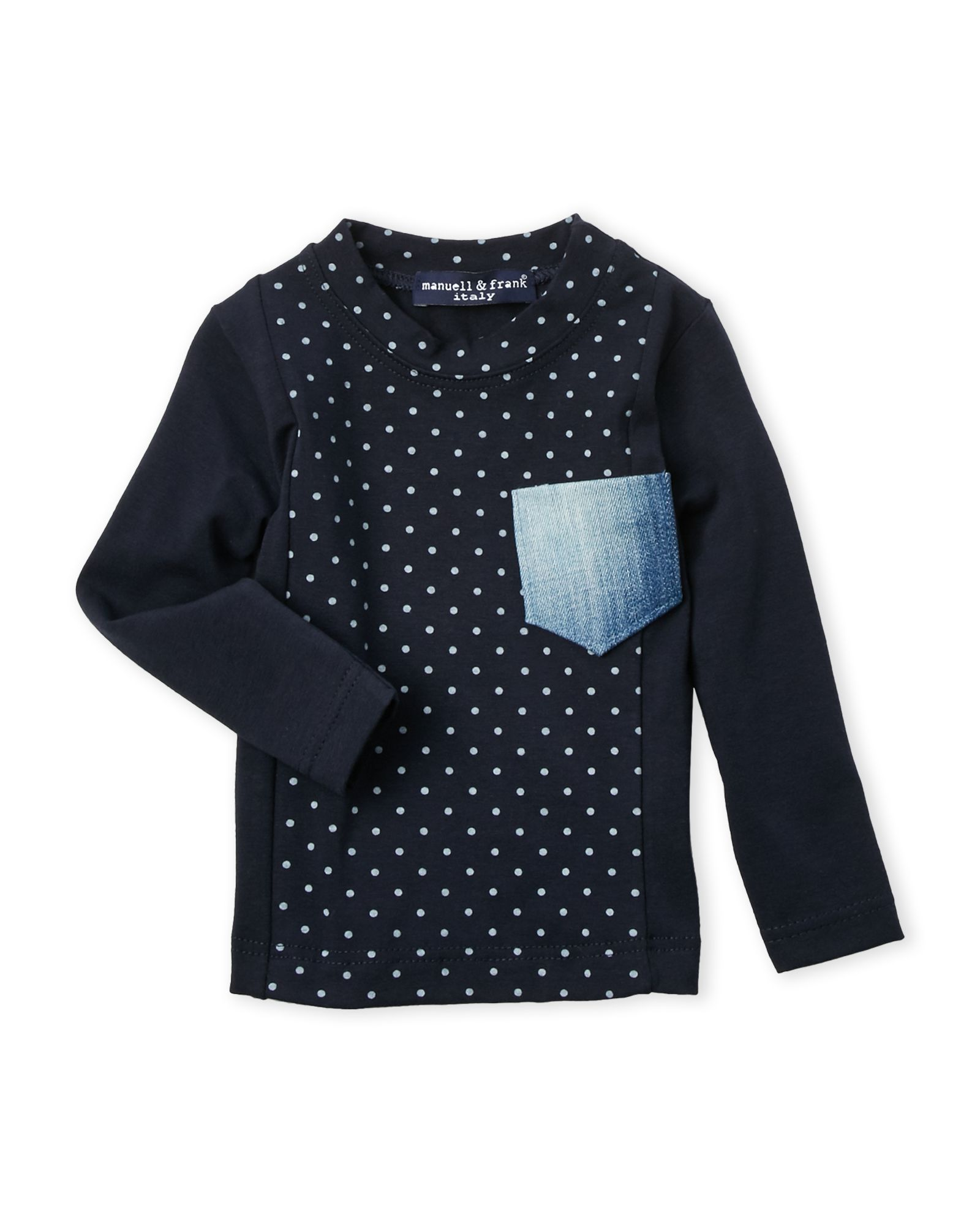 Manuell & Frank (Infant Boys) Polka Dot Panel Tee