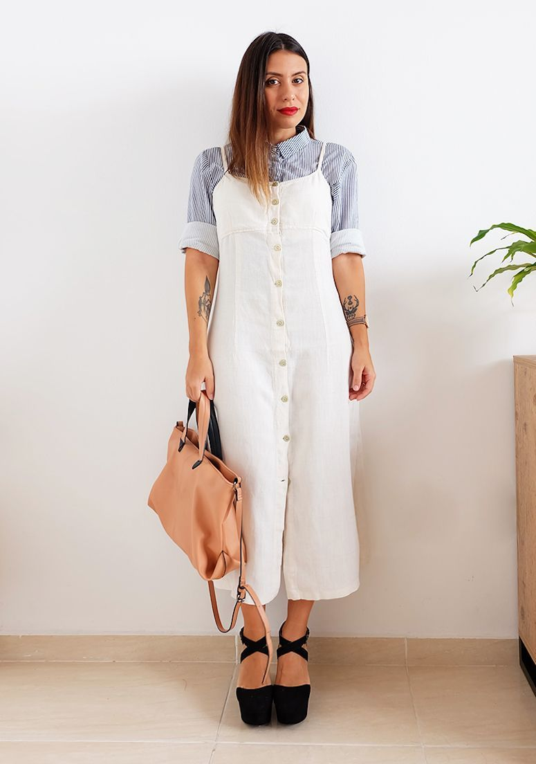 Sobreposição de vestido com camiseta  saiba como adotar essa tendência 8d31c4c505dd5