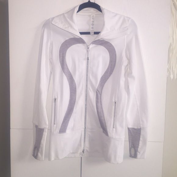 Lululemon Athletica in stride jacket Worn a handful of times. Excellent condition. Longer jacket, 2 zip pickets, thumb holes. lululemon athletica Jackets & Coats