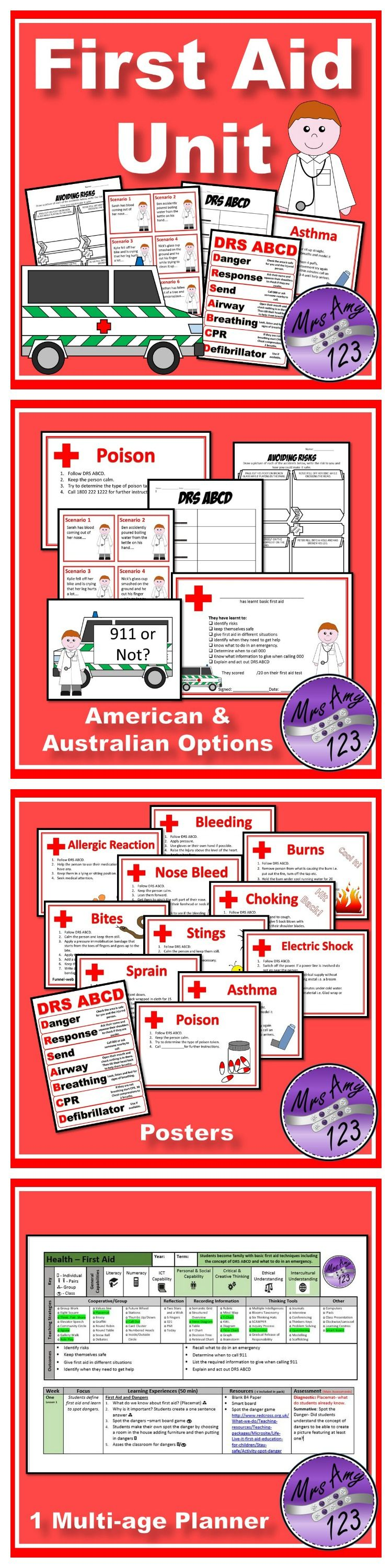 First Aid Unit Other Tpt Life Skills Lessons Teacher
