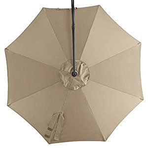 Amazon Com Brown Replacement Canopy For Essential Garden 10 Ft Offset Round Umbrella Patio Lawn Garden Umbrella Offset Umbrella Large Patio Umbrellas