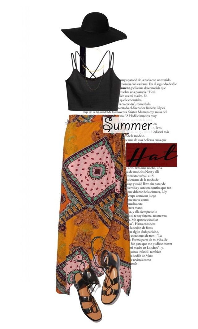 """summer hats"" by perilousness-fashion ❤ liked on Polyvore featuring Monki, Rosetta Getty and Jennifer Zeuner"