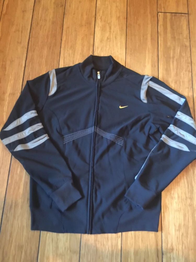 6d57538cb5 Nike Dri-fit Black Jacket Ladies Sz L(12-14) With Unique Embroidery   fashion  clothing  shoes  accessories  womensclothing  activewear (ebay  link)