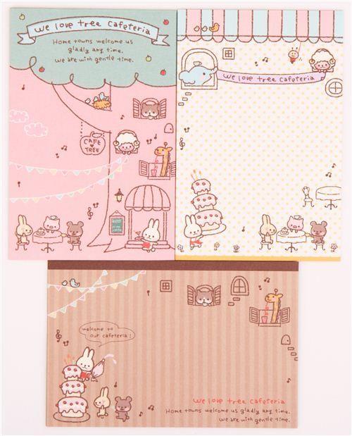 kawaii rabbit cake celebration Letter Set by Q-Lia Rabbit cake - celebration letter