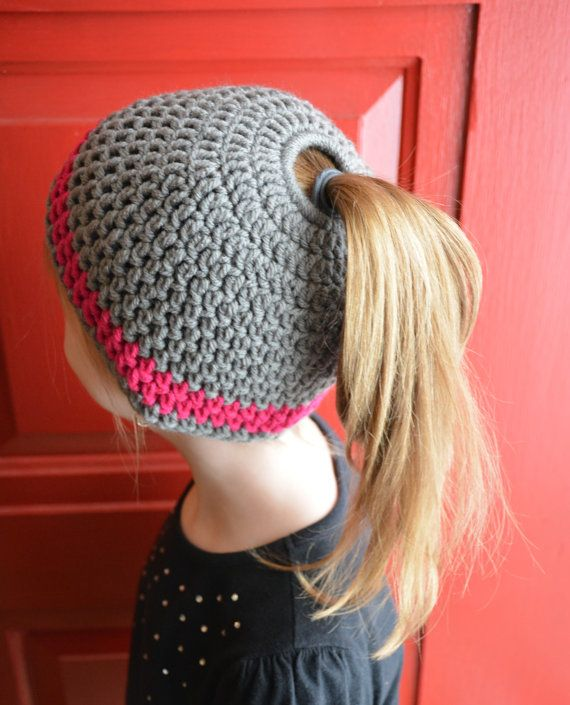 Messy Bun/Ponytail Hat for All Ages- All Sizes Available ...
