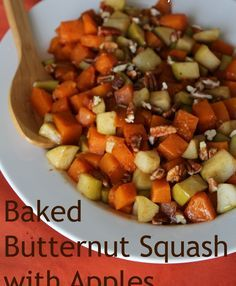 Baked Butternut Squash With Apples Baked Butternut Squash