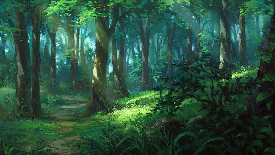 Forest By Andanguyen Deviantart Com On Deviantart Fantasy Landscape Forest Scenery Anime Scenery