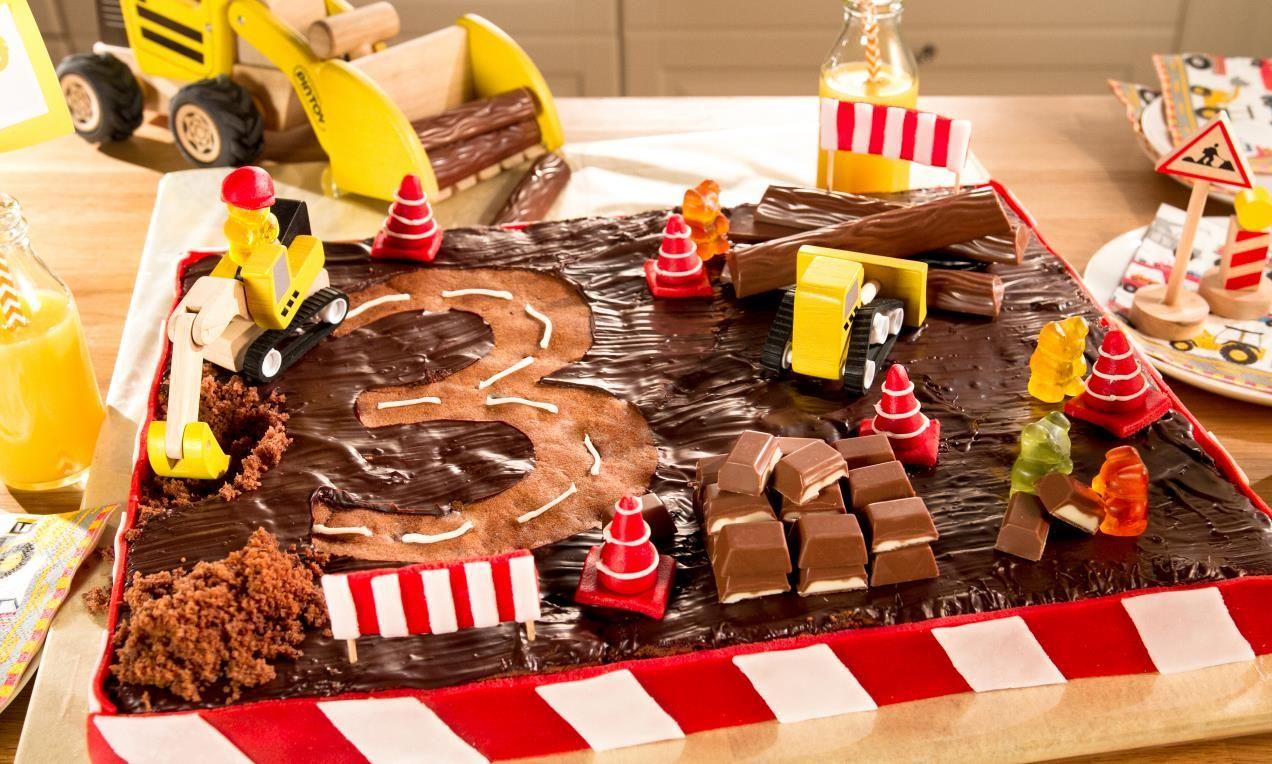 Baustellen-Geburtstagskuchen