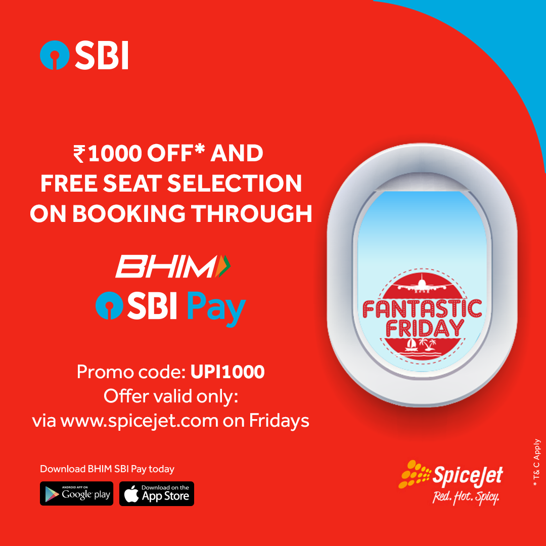 Pin by State Bank of India on #Bhim SBI Pay_SpiceJet   Book