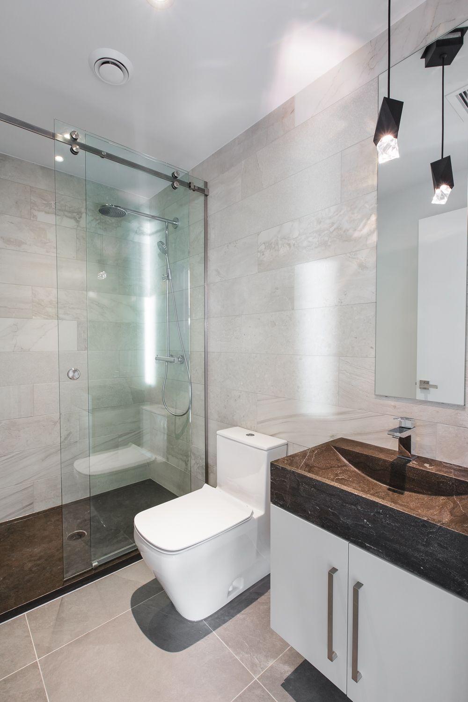 Salle De Bain Moderne Bois Et Pierre ~  pingl par c line dufresne sur salle de bain bathroom pinterest