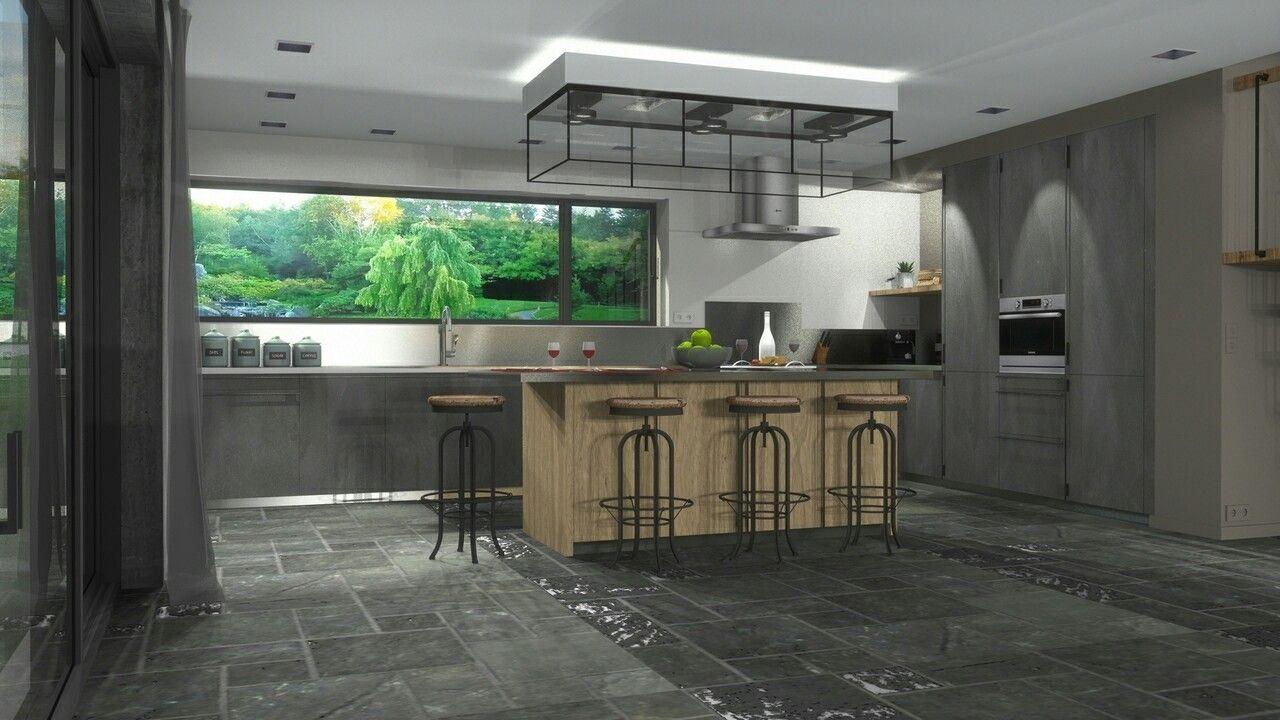 Creation d\'un interieur 3d style atelier chic. Interior design 3d ...