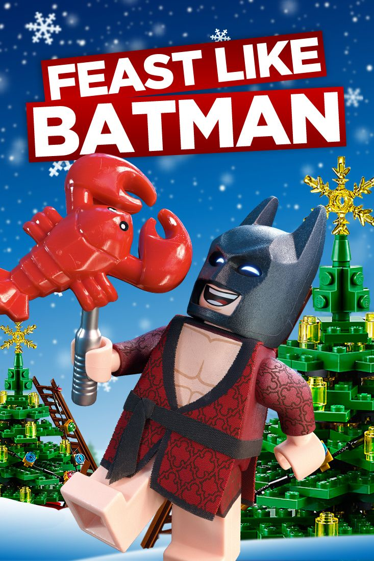 Leaving a mince pie out for Santa? So basic. He gets lobster thermidor from me. LEGO Batman comes to cinemas February 2017.