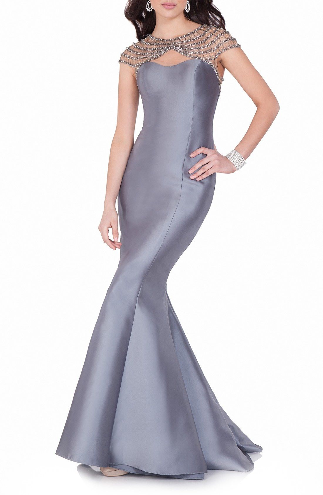 Terani Couture Mixed Media Trumpet Gown available at #Nordstrom ...