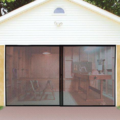 double garage door screen garage gym and air flow