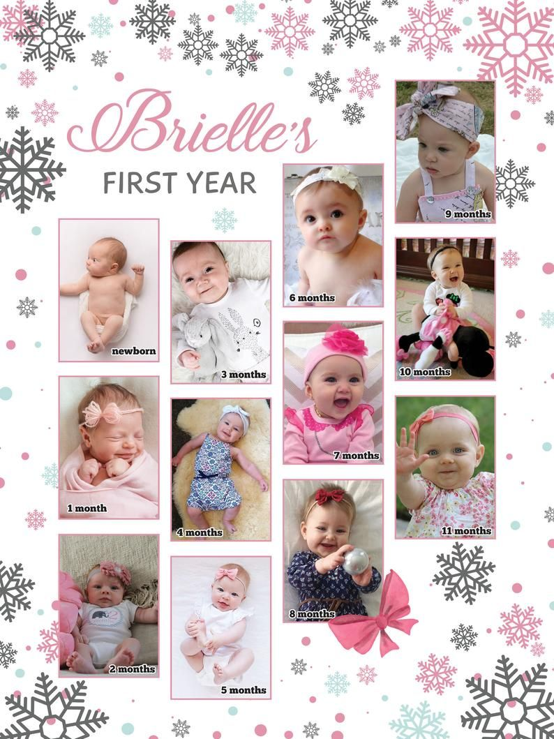 12 Month Baby Photo Collage Template - Template : Resume