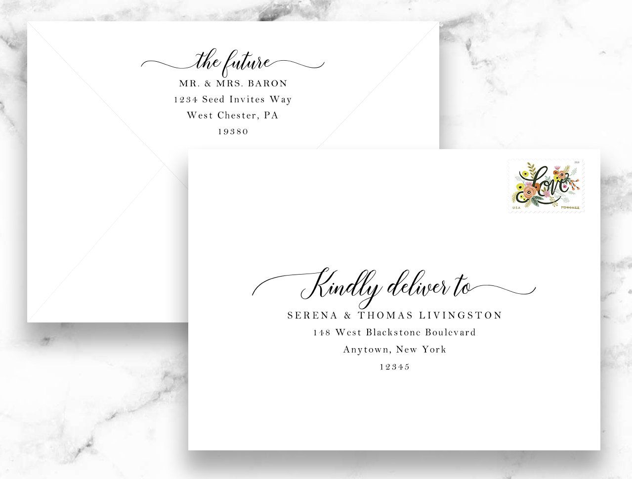 A7 Envelope Addressing Calligraphy Envelope Address Printing
