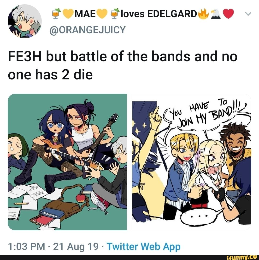 ORANGEJUICY FE3H but battle of the bands and no one has 2
