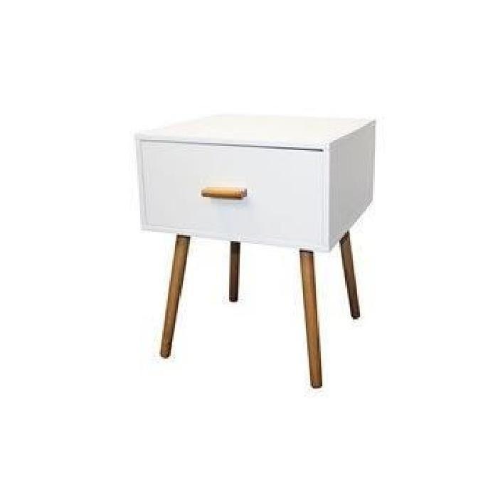 Table De Chevet Blanc Design Scandinave Table De Chevet Blanche