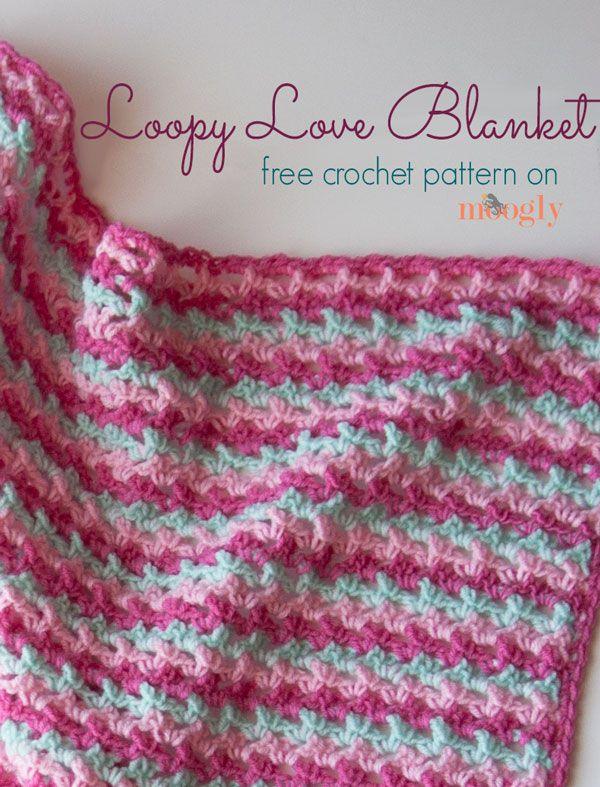 Loopy Manta Love - un patrón #crochet libre en una variedad de ...