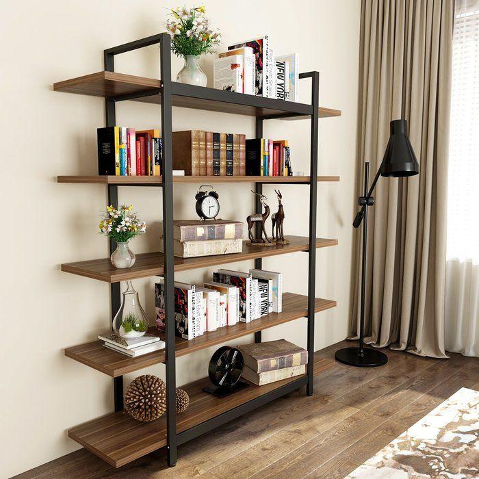 Melia Vintage Industrial Style 5-Tier Etagere Bookcase & Reviews   Birch Lane
