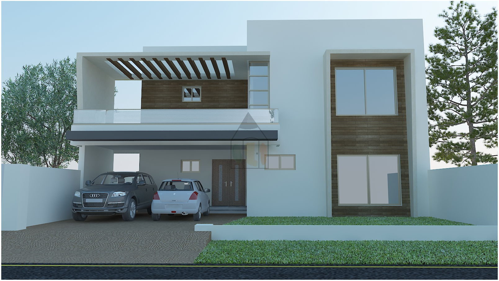 Front Elevation Of 200 Sq Yards : Kanal house plan with bedrooms and bathrooms this