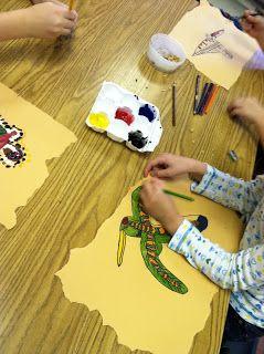 3rd Grade Creates Aboriginal Art