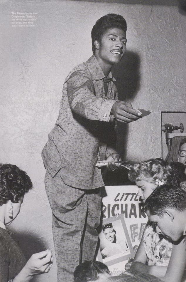 Little Richard With Fans 1950 S Country Blue Rhythm And Blues