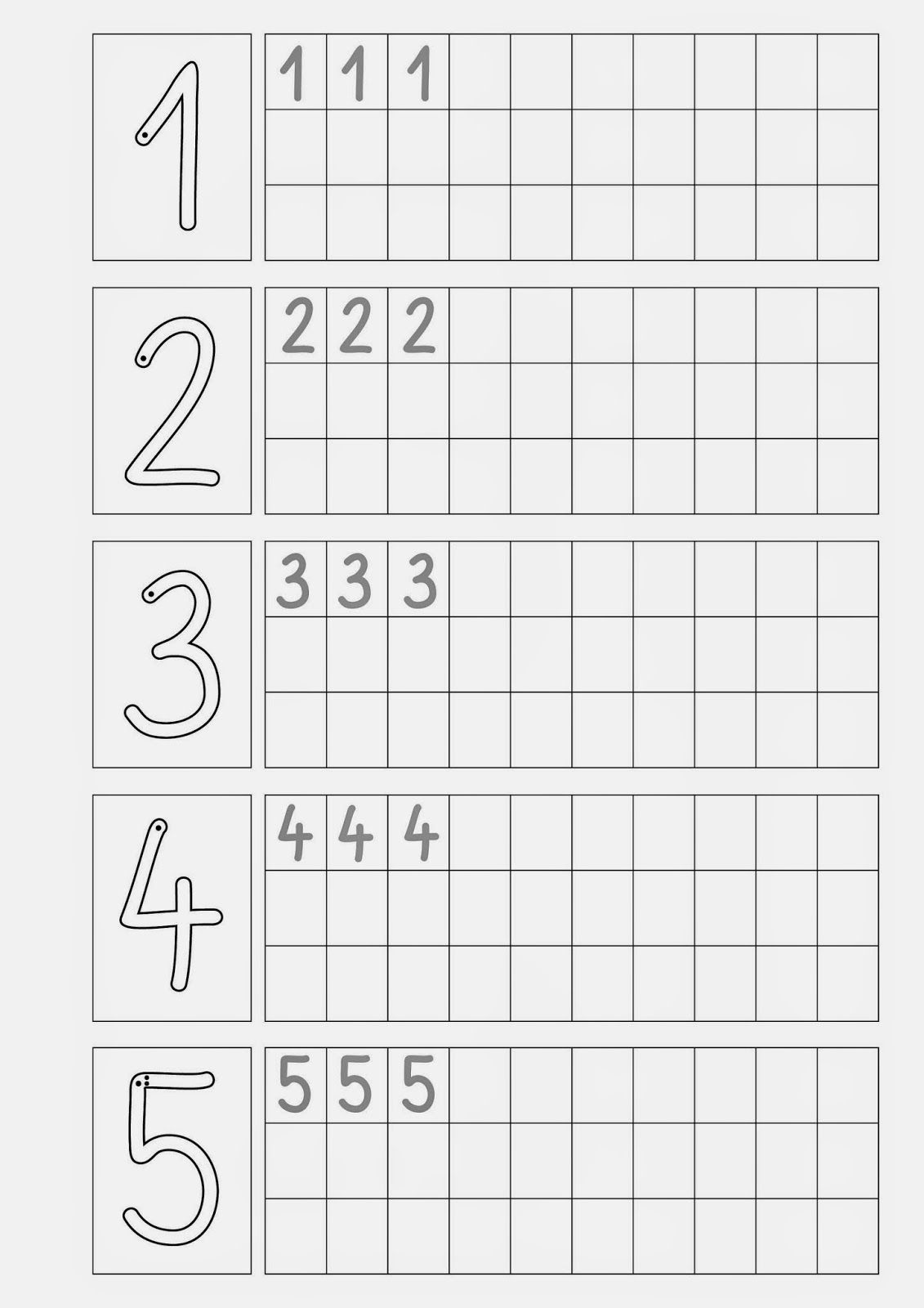 Ziffern schreiben .... | escritura | Pinterest | Maths, Worksheets ...