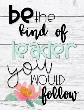 Leadership Inspirational Posters- Farmhouse Peonies