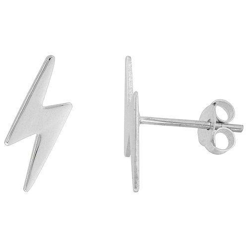 Sterling Silver Lightning Bolt Stud Earrings Harry Potter I Want