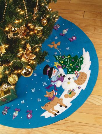 frostys favorite janlynn tree skirt kit large christmas