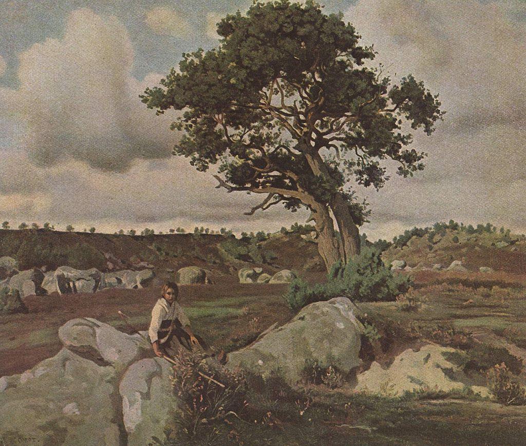Jean-Baptiste Camille Corot - Forêt de Fontainebleau (Le Chêne)