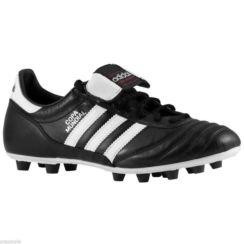 adidas Copa Mundial Men\u0027s Soccer Shoes Black/White This soccer shoes  feature a rich kangaroo leather upper and a dual-density outsole that has  set the ...