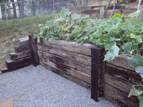 Retaining Wall From Railway Ties Landscaping Retaining Walls Railroad Tie Retaining Wall Landscape Timbers