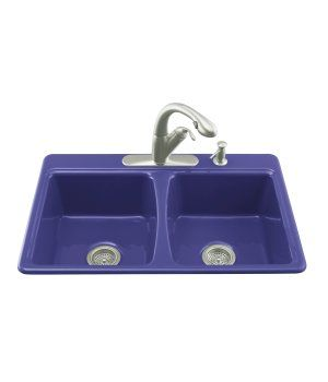 Cobalt Blue Kitchen Sink This Is Our Color Scheme We Need