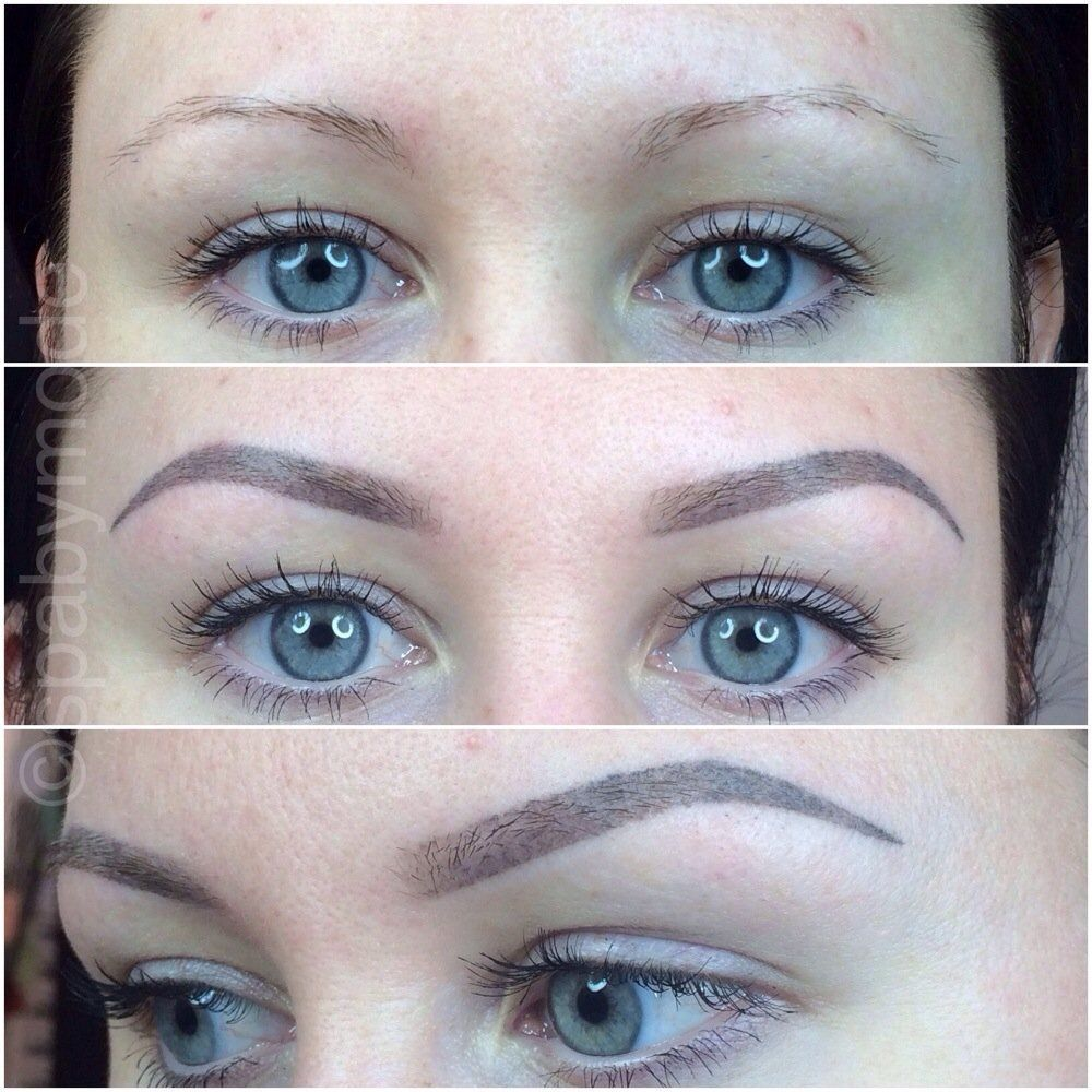 I like that the inner corners of her eyebrows are lighter