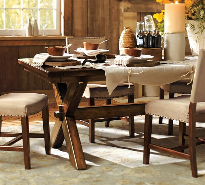 The Perfect Dining Table For My Dining Room And My Plans To Build - Pottery barn trestle dining table