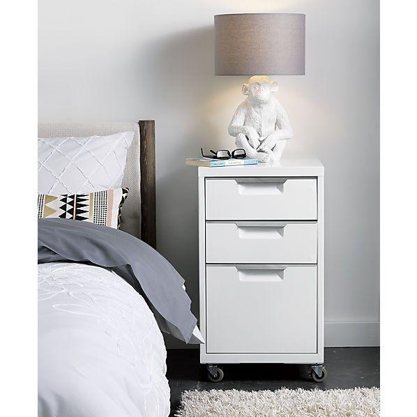 TPS White 3 Drawer Filing Cabinet   CB2 $159.00