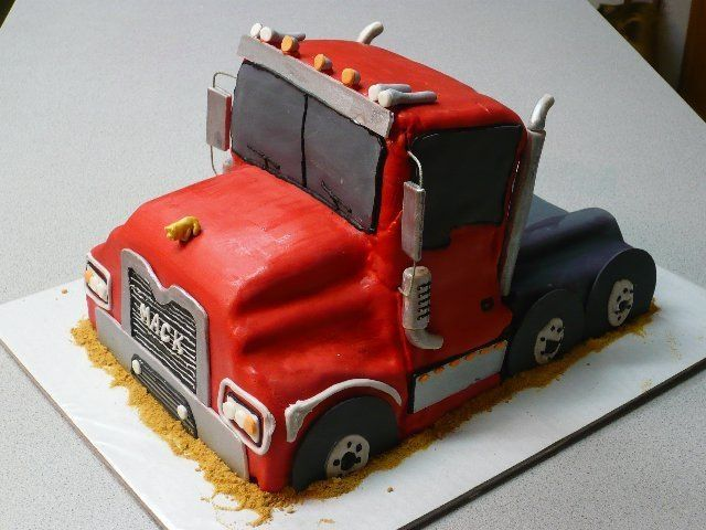 Mack Truck Birthday cake Birthday Ideas Pinterest Truck