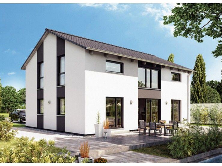 Haus bauen modern satteldach  Variant 25-183 - #Einfamilienhaus von Hanse Haus GmbH ...