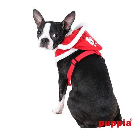 Rudolph Plush Choke-Free Fur Lined Hooded Halter Harness in Color Red
