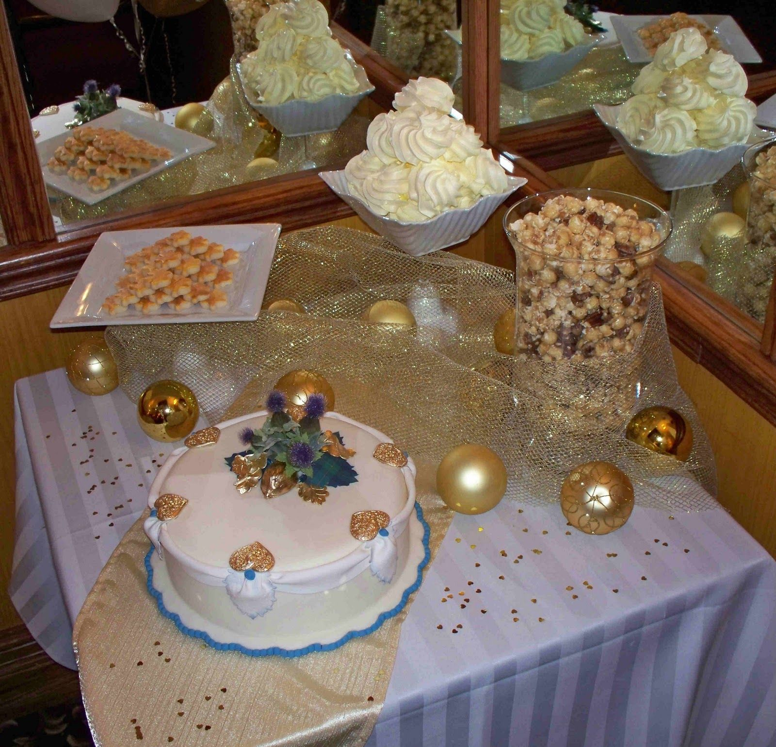 50th Wedding Anniversary Table Ideas 50th Anniversary Party Moms