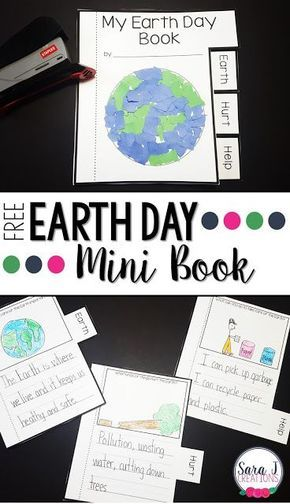 Free Earth Day Mini Book  Mini books Earth day and Activities