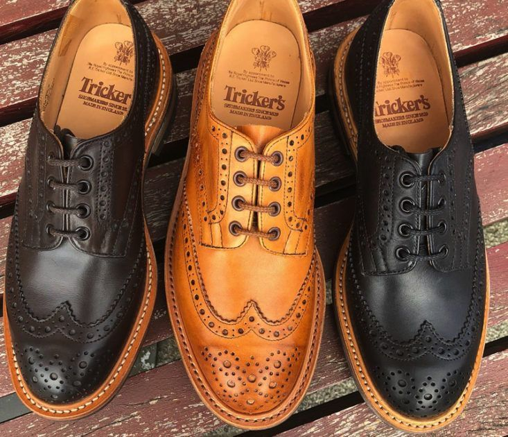 trickers_shoes brogue wingtip shoes in