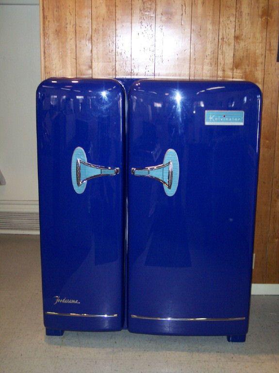 Antique Vintage Refrigerator Refinished